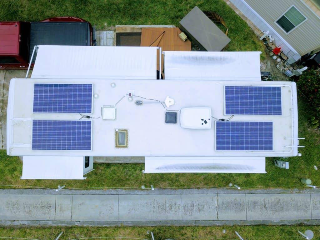 residential solar panels installed on RV