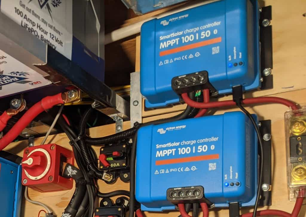 Solar charge controllers installed
