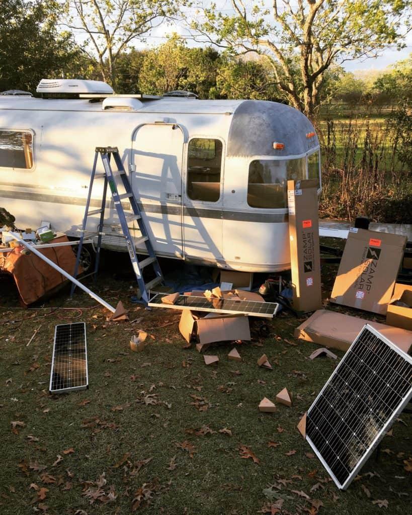 installing RV solar Panels