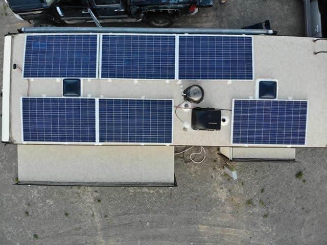 RV solar panels installed