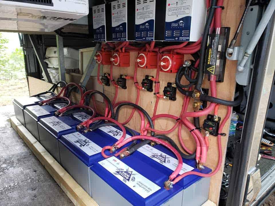 10 lithium batteries installed